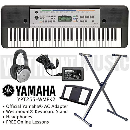 Yamaha Ypt 255 Keyboard Including Official Adapter