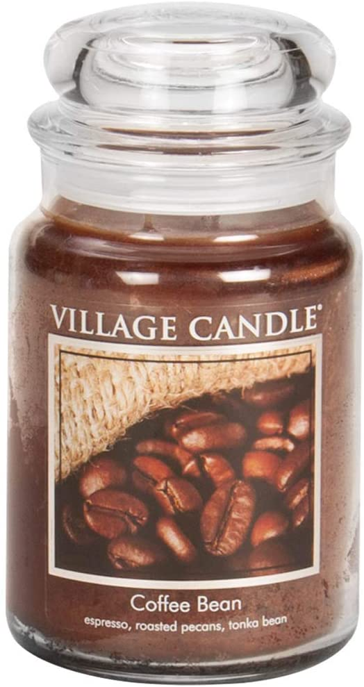 Village Candle Coffee Bean 26 oz Glass Jar Scented Candle, Large