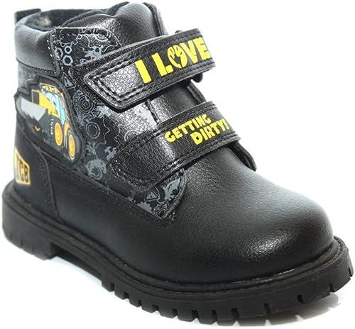 Boys Winter Velcro Ankle Boots Size UK