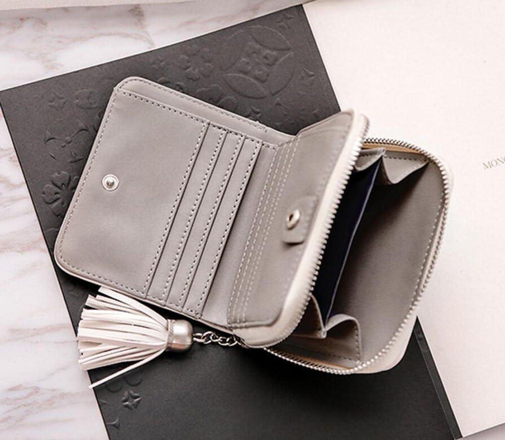 Diyafas Multifuncional Billetera Tr/íptico Corta para Mujer Cartera Tarjetero Borla Bolsa Monedero