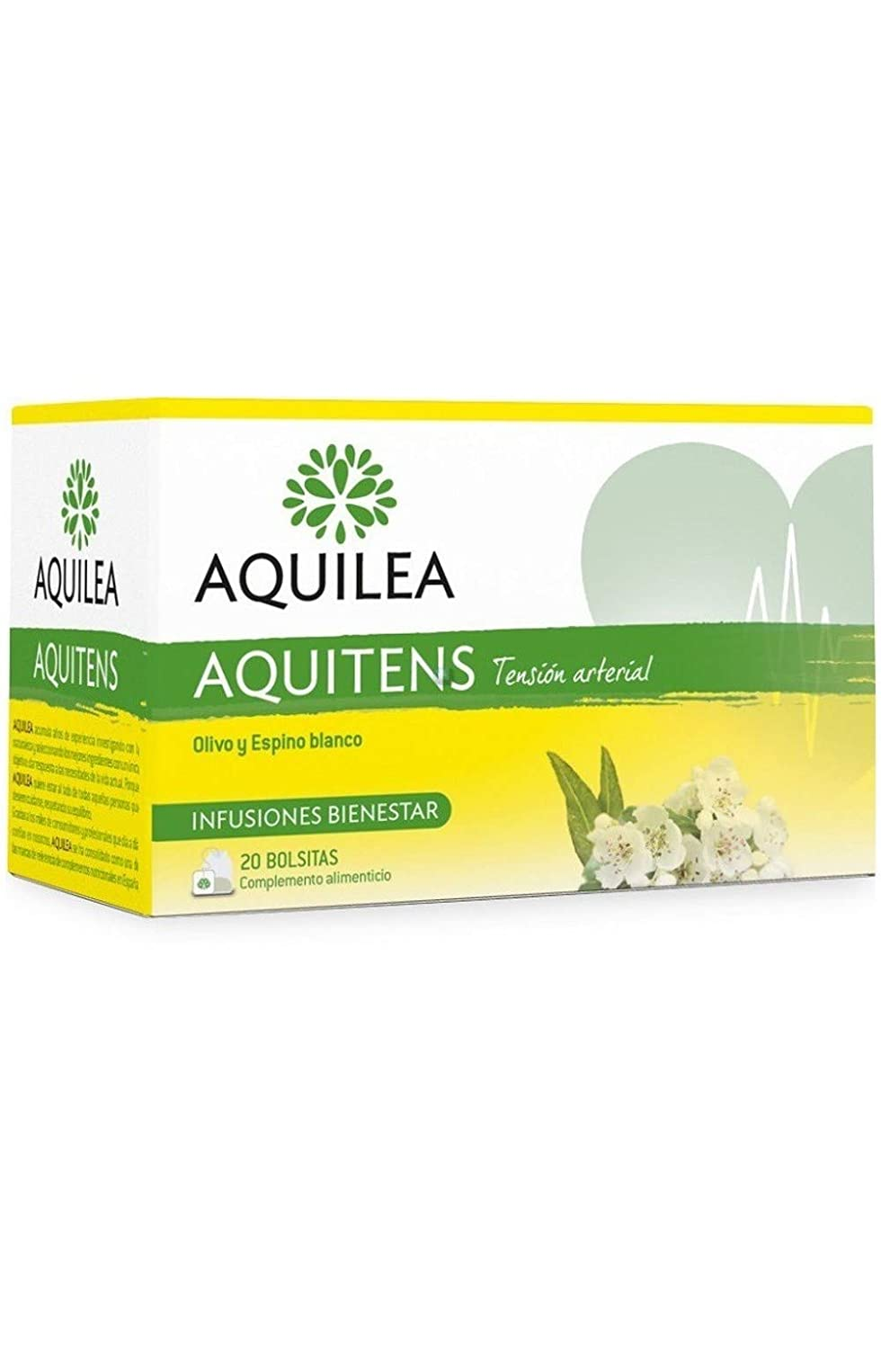 Amazon.com : Aquilea Aquitens Infusion 20 Units - Olive And Hawthorn - Healthy - Blood Pressure - Spain : Grocery & Gourmet Food
