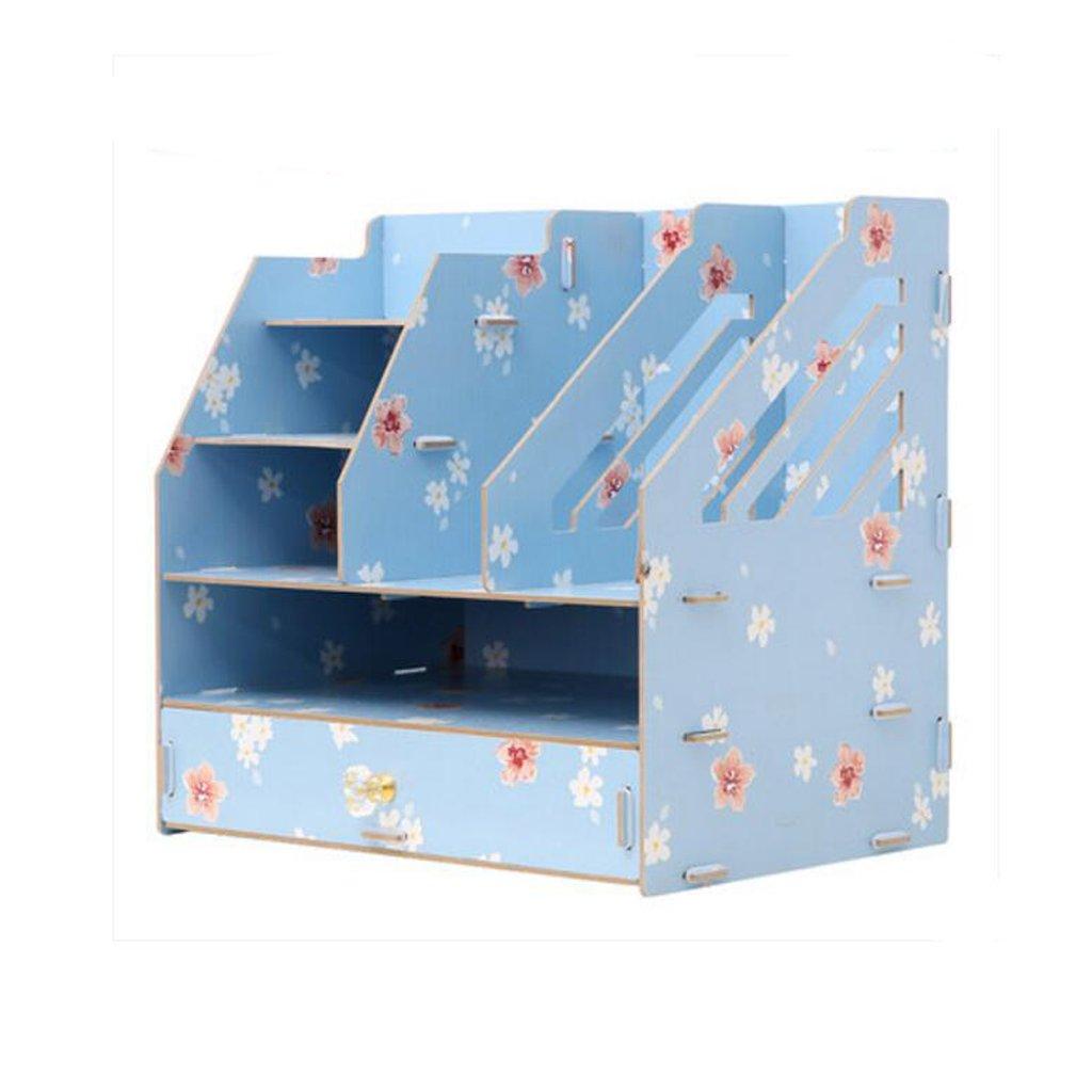 Bürobedarf Desktop-Datei Aufbewahrungsbox Holz Großes Bücherregal ...