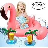 Tacobear Bebé Swim Ring Inflable Piscina Flotador Inflable Swim Ring Piscina Flotador Bebé Natación Juguete con 2 portavasos (Unicornio)