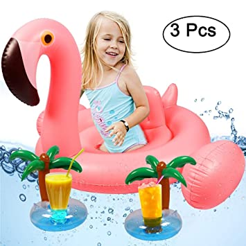 Tacobear Bebé Swim Ring Inflable Piscina Flotador Inflable Swim Ring Piscina Flotador Bebé Natación Juguete con 2 portavasos (Flamenco): Amazon.es: Juguetes ...