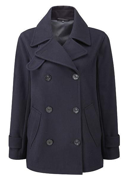 Clothing Original Montgomery Womens Pea Coat Jacket Black Coats & Jackets