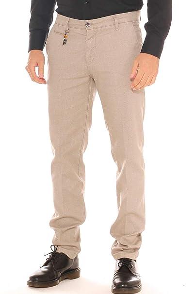 b1014f0c67 Pantalone Chino Uomo in Misto Cotone Stretch Fantasia Pepe Sale ...