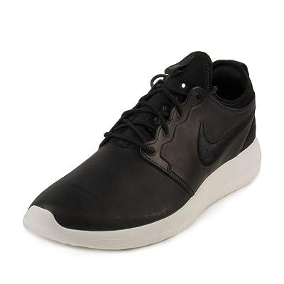 Nike Mens Lab Roshe Two Leather PRM Black/Sail Leather