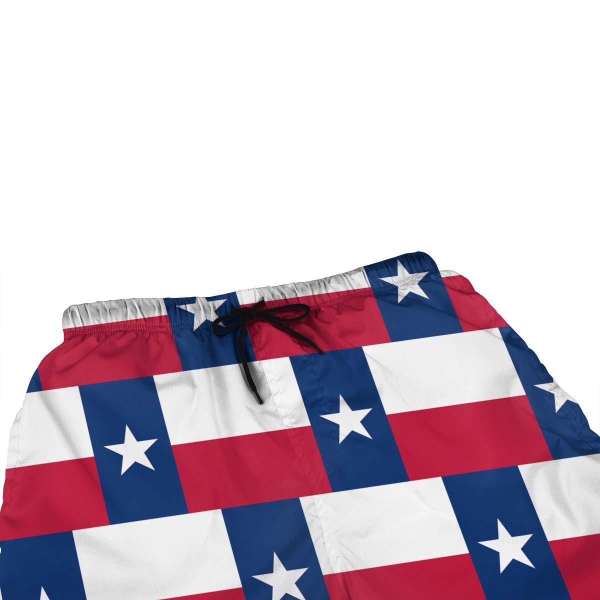 Ling Lake Redesign Texas Flag Mens Beach Shorts Board Shorts Summer Swim Trunks