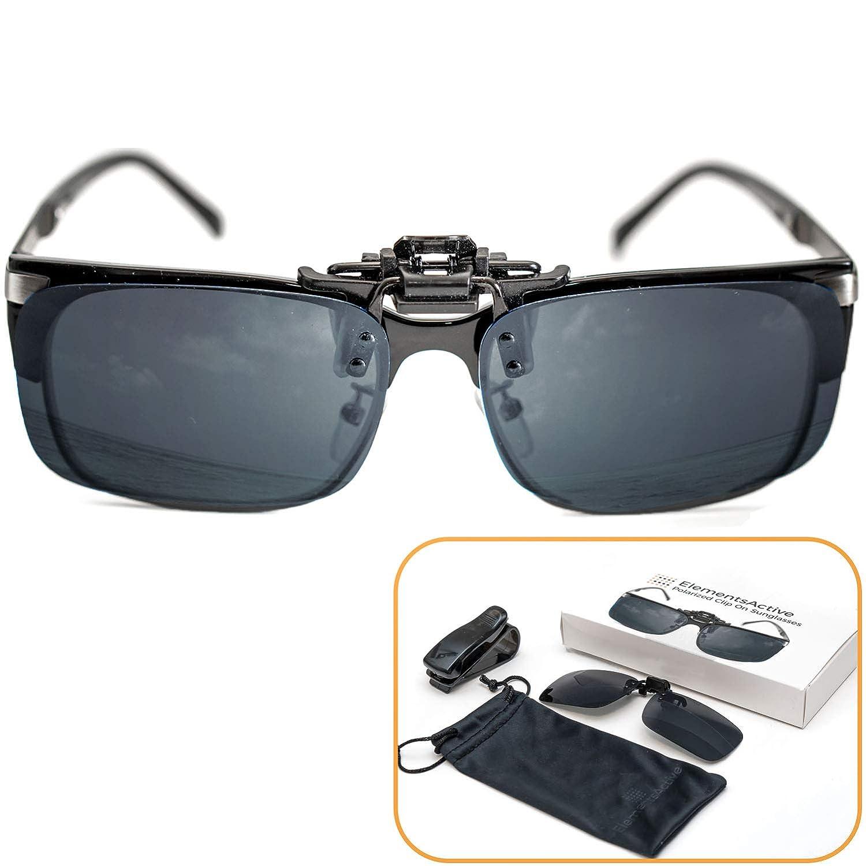 2968c4e683c Amazon.com  ElementsActive Polarized Clip-on Driving Sunglasses with Flip  Up Function
