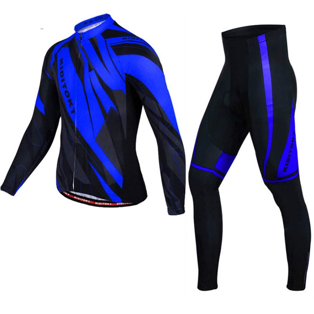 Xiaoping Radsportbekleidung Mountainbike-Reithemd Langärmelige Hose Sportausrüstung Dünn
