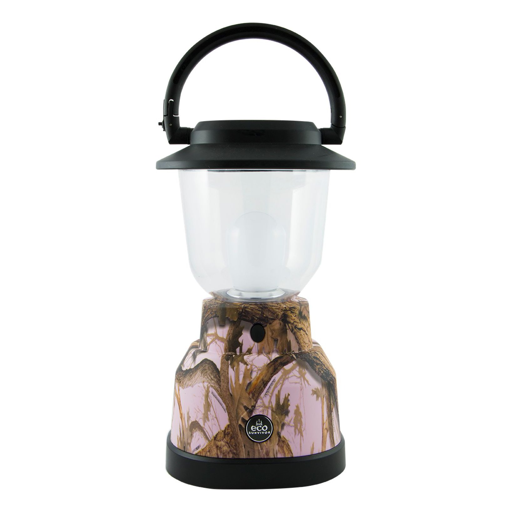 EcoSurvivor LED Lantern, Pink Camouflage, Outdoor, Waterproof, Lasts 180 Hours, Hanging Camping Lantern, Carabiner Handle, Great for Hiking, Storms, and Emergencies, 50% Charity Give Back, 11238 by EcoSurvivor