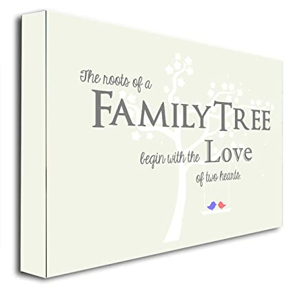 FRAMED CANVAS PRINT The Roots Of A Family Tree Begin With The Love Of Two  Hearts