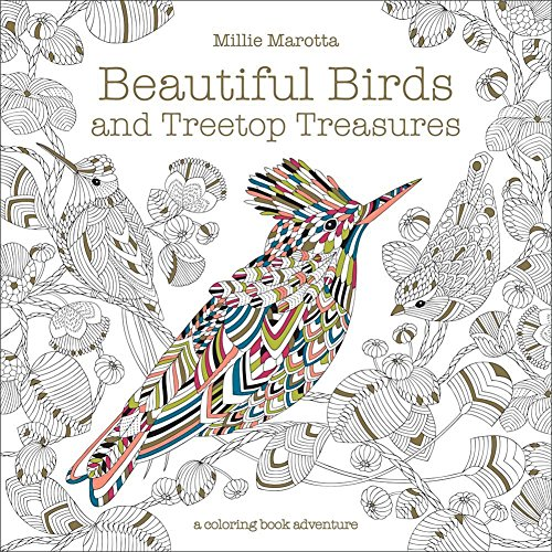 Sterling Publishing Co Beautiful Birds & Treetop Treasures Softcover Coloring Book w/ 96 Pages