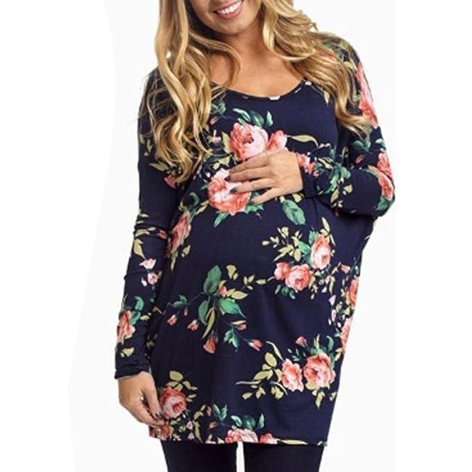 K-youth Ropa Premama Ropa Embarazada Mujer Camiseta Premamá T-Shirt Blusa Embarazada para