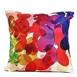 Throw Pillow cover,Dealgadgets Cotton Linen Square Decorative Throw Pillow Case Cushion Cover Colorful Flowers(18