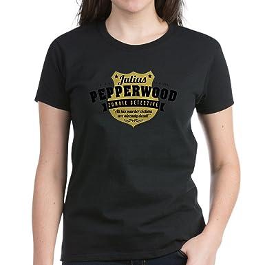 ef50545e8 CafePress - New Girl Julius Pepperwood Women's Dark T-Shirt - Womens Cotton  T-