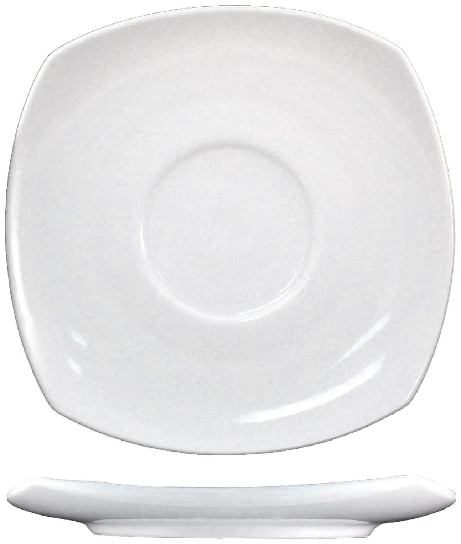 ITI-QP-2 Quad 5-3/4-Inch Square Saucer, 36-Piece, White