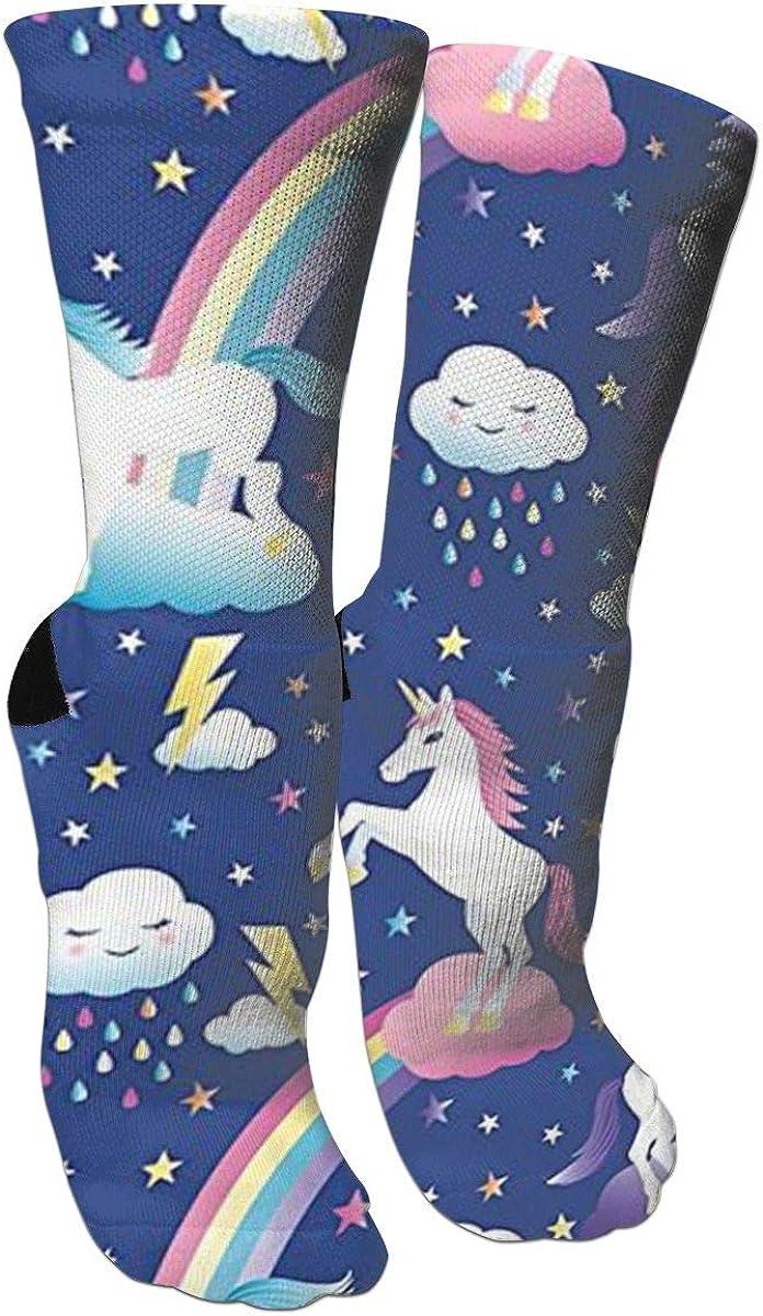 Alien Grunge Unicorn Unisex Casual Sports Socks Knee High Athletic Long Tube Stockings