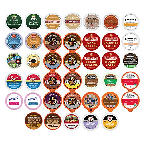 Coffee Pack Pods Variety (Flavored Coffee Variety Sampler Pack for Keurig K-Cup Brewers, 40 Count)