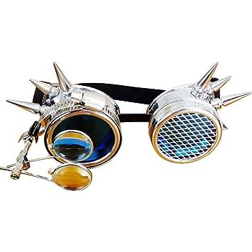 F Fityle Steampunk Victorian Goggles Soldadura Cosplay Glasses Diesel Punk Gothic: Amazon.es: Juguetes y juegos