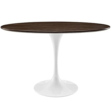Modway Lippa Oval Shaped Dining Table, 48u0026quot;, ...