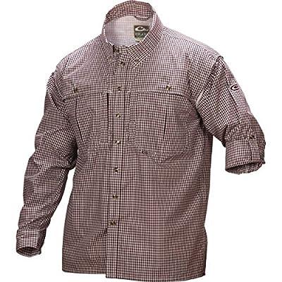 Drake Wingshooter Game Day Plaid Long Sleeve Shirt (Maroon) (Men's)