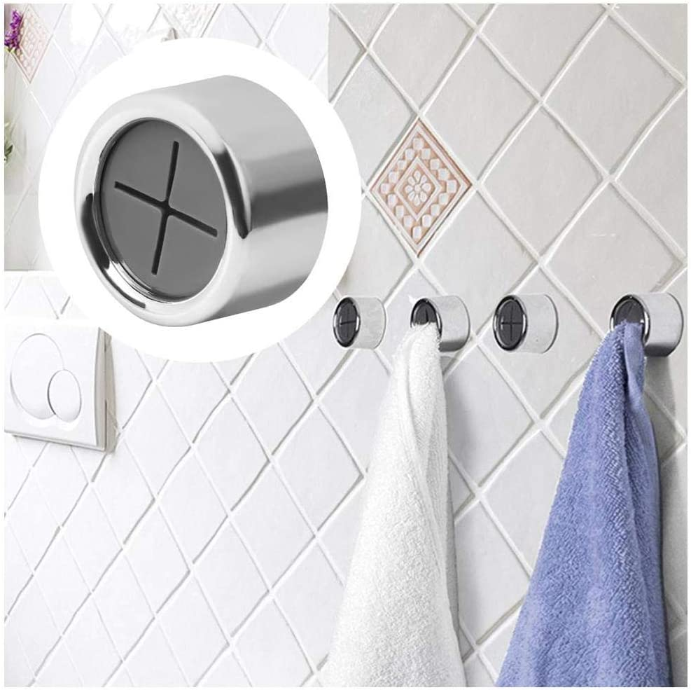 Towel Hook Holder Grabber for Kitchen, Bathroom, Garage or RV. Self Adhesive and Easy to Install. Great for Hair Towels, Shop Towels or Microfiber Towels. Wall, Cabinet or Appliance Mounted.