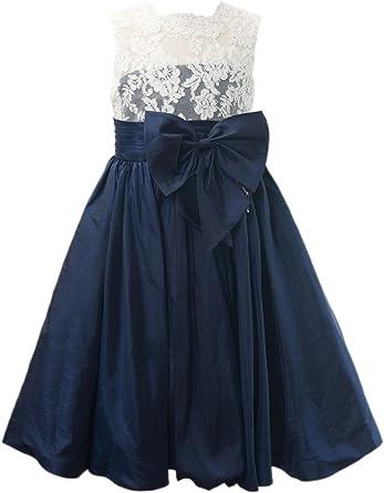 Amazon.com: Miama Ivory Lace Navy Blue