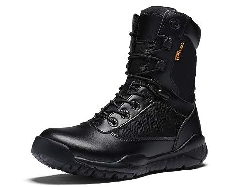SINOES Botas Servicio Militar Calzado Trabajo Zapatos Hombre - Botines Desert Militares Ejército Táctico Al Aire Libre Deportes Cámping Excursionismo: ...