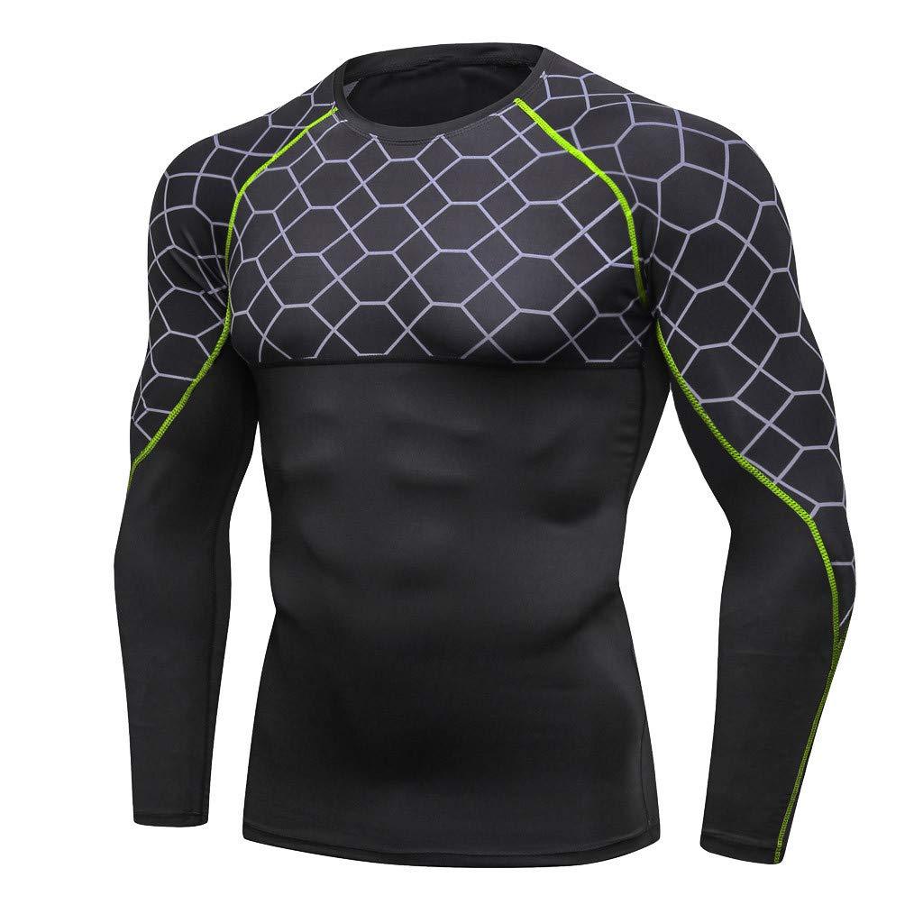 0aac6baa6728e3 Ropa Cinnamou Camisetas Deportivas para Hombre Entrenamiento Fitness  Deportes Gimnasio Correr Yoga Camisa Atlética Top Blusa