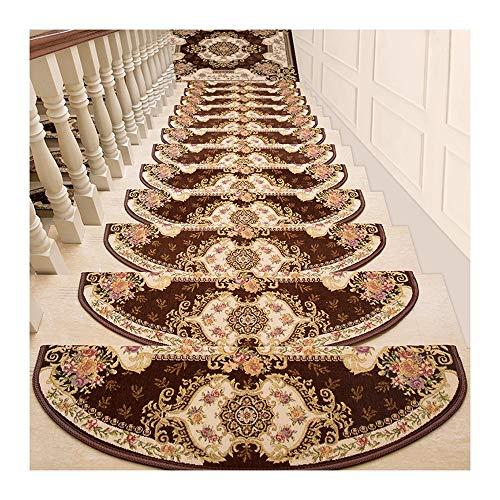 LJJL Stair Tread Mats 10 Pcs Stair Tread - Carpet Mats, Step Carpet Non Slip Adhesive Rug/Mat for Living Room, Garden, Stair 24×100CM (Color : Pack of 10, Size : 26×75CM) from GLJ Stair Tread