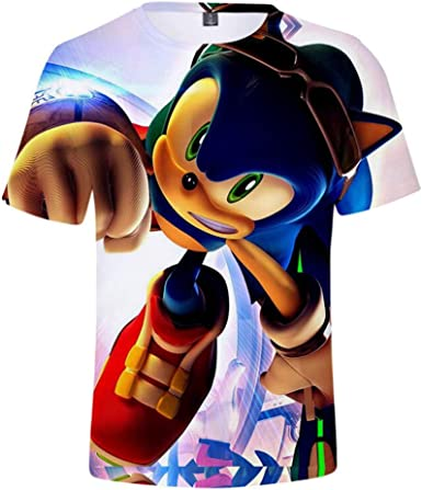 Amazon Com Boys Cartoon Sonic Clothes Girls 3d Funny T Shirts Costume Children Spring Clothing Kids Tees Top Baby T Shirts Clothing