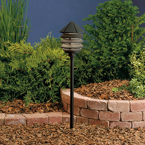 Mount Path Light Stem (Kichler 15005BKT Six Groove Path & Spread 1-Light 12V, Textured Black)