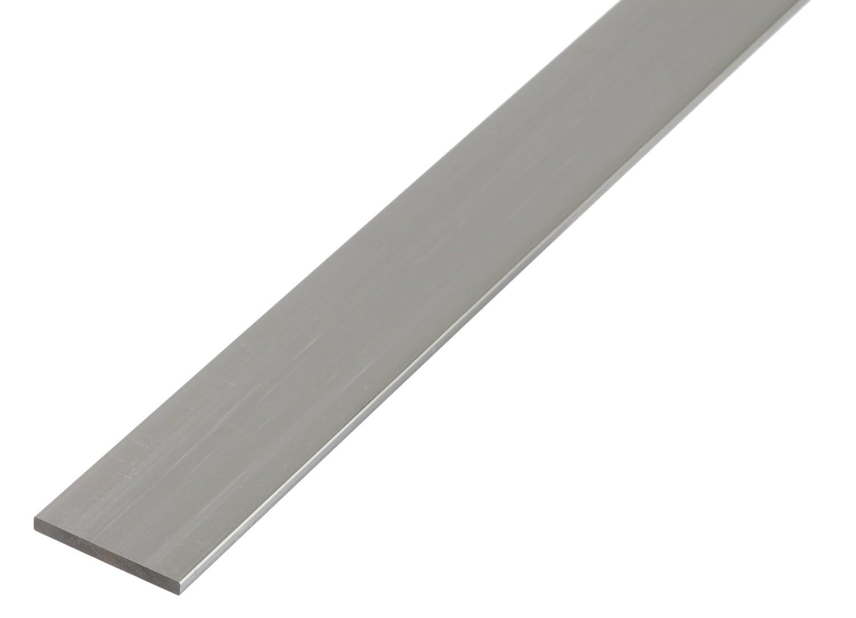 GAH-Alberts 471729 1000 x 50 x 3 mm Argento silberfarbig eloxiert Barra piatta in alluminio anodizzato