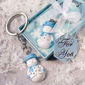 Amazon.com: Muñeco de nieve llaveros (juego de 6) – para ...