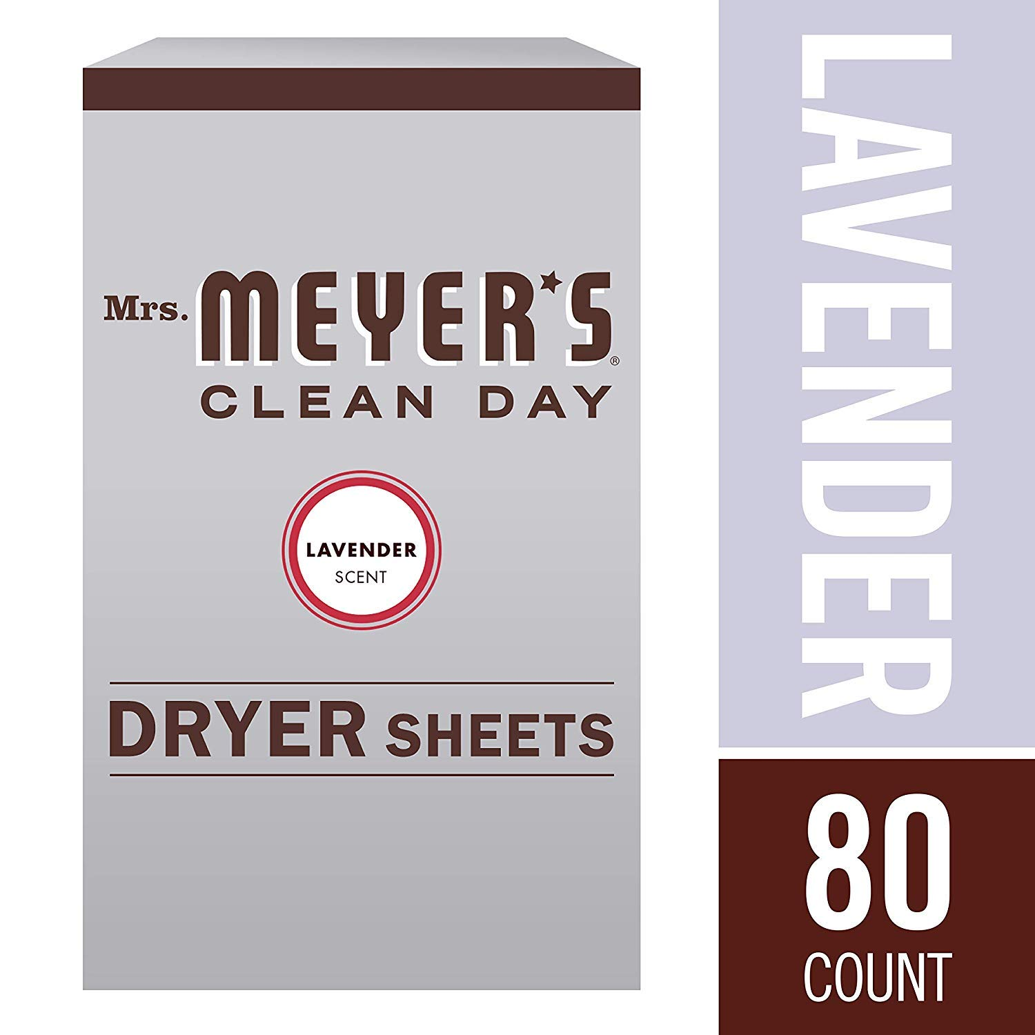 Mrs. Meyer's Clean Day Dryer Sheets, Lavender, 80 ct (2 Pack, 80ct)