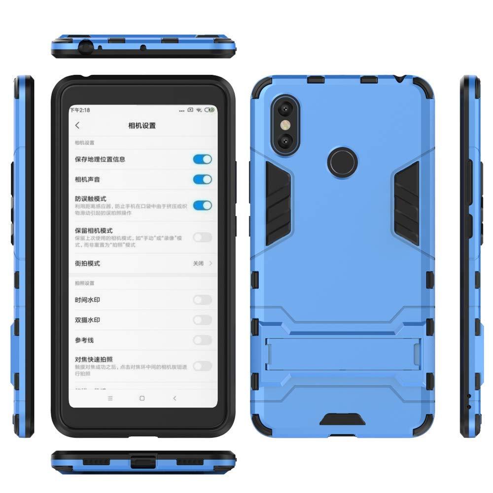 Custodia Antiurto MHHQ Xiaomi Mi Max 3 Custodia TPU Custodie Case Cover con Supporto per Xiaomi Mi Max 3 -Red 2 in 1 Armour Stile Resistente Hybrid Dual Layer Armatura Defender PC