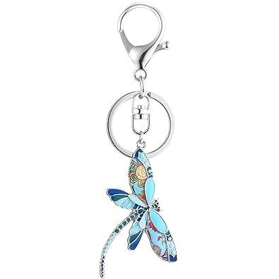 Luckeyui - Llavero con diseño de libélula para Mujer: Amazon ...