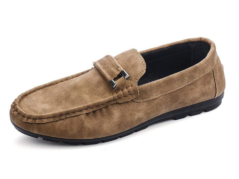 TALLA 43 EU Estrecho. Zapatos de Hombre - Mocasines - Color Beige - ZY - 114