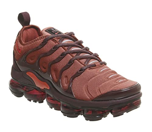 new york deda8 eebf5 Nike Women's W Air Vapormax Plus Fitness Shoes, Multicolour (Burnt  Orange/Habanero Red