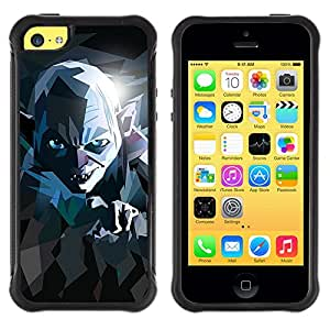 SHIMIN CAO@ Lord Movie Poster Stylized Evil Ring Creature Rugged Hybrid Armor Slim Protection Case Cover Shell For iphone 5C CASE Cover ,iphone 5C case,iphone5C cover ,Cases for iphone 5C