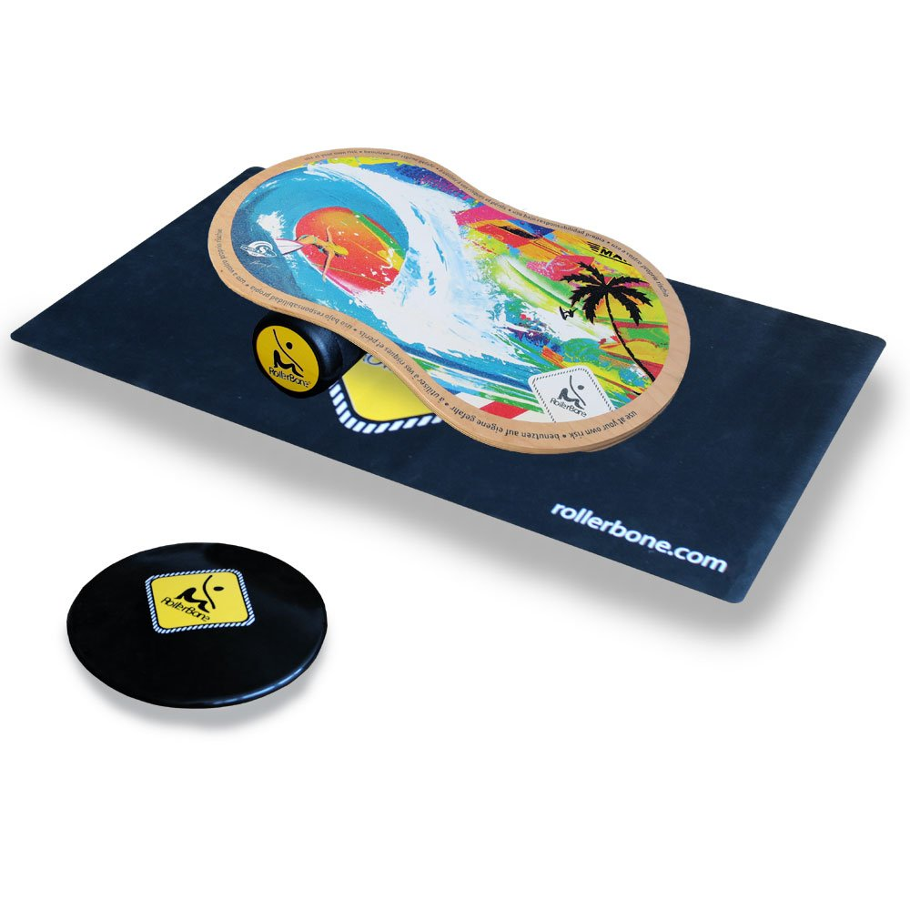 RollerBone Shabby 1.0 Pro Balance Board/Balance Trainer Set + SoftPad + Carpet