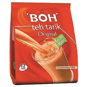 Amazon com : Malaysia BOH 3 in 1 Teh Tarik Less Sugar