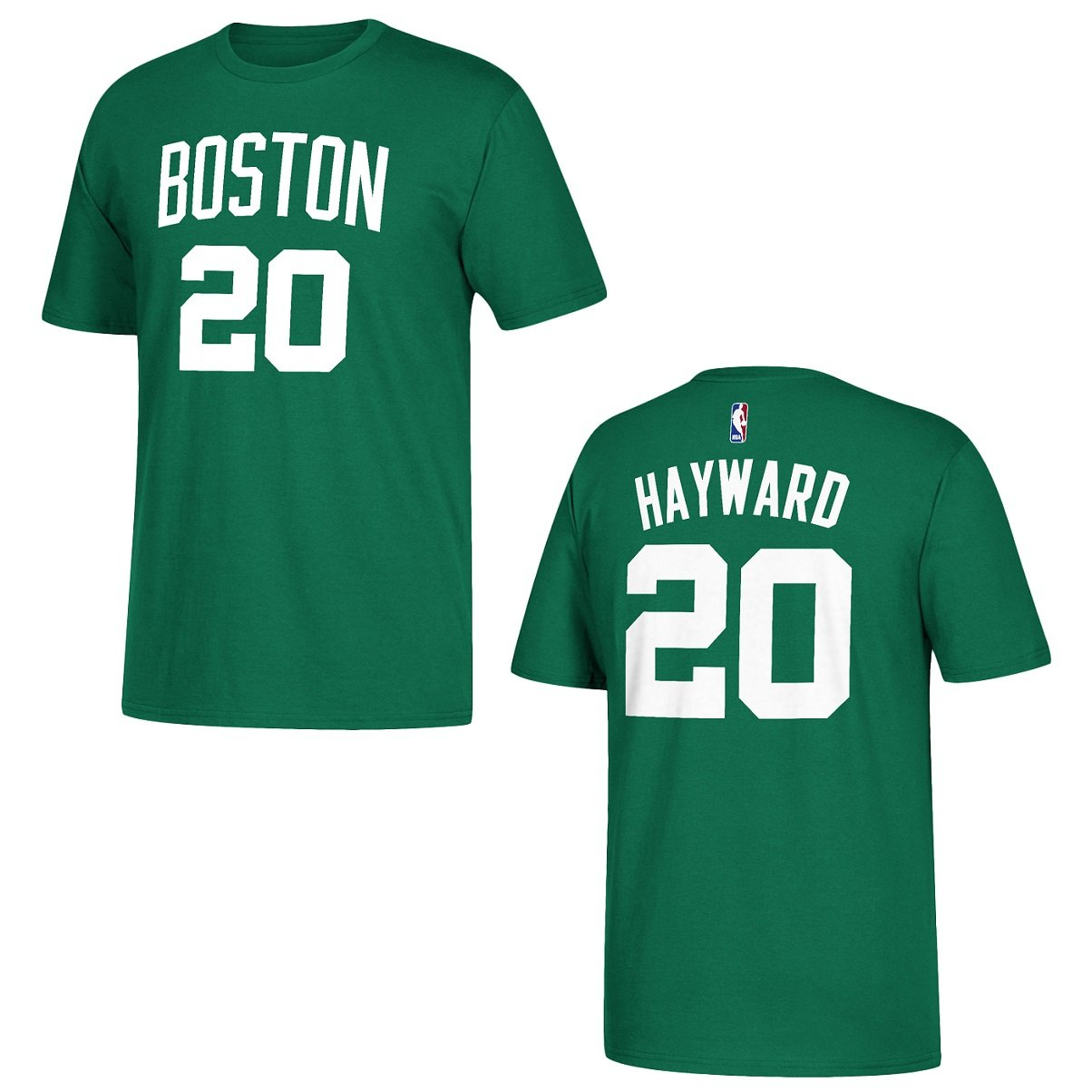 Amazon.com   adidas Boston Celtics Gordon Hayward Green Name and Number T- Shirt   Sports   Outdoors ec91830bc