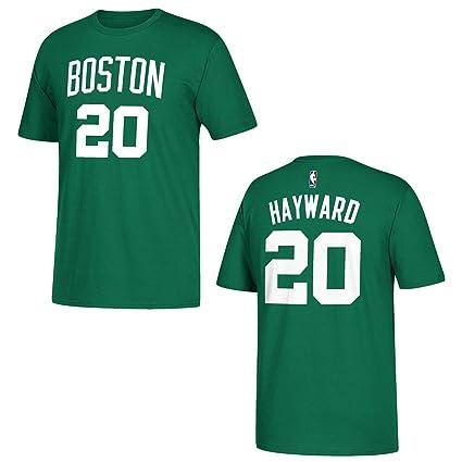 9ca7aa52a Amazon.com   adidas Boston Celtics Gordon Hayward Green Name and ...