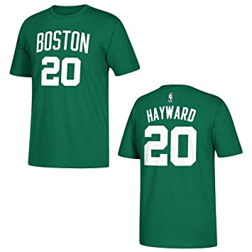 new style 246ee 1c3e0 adidas Gordon Hayward Boston Celtics Green Name and Number T-Shirt