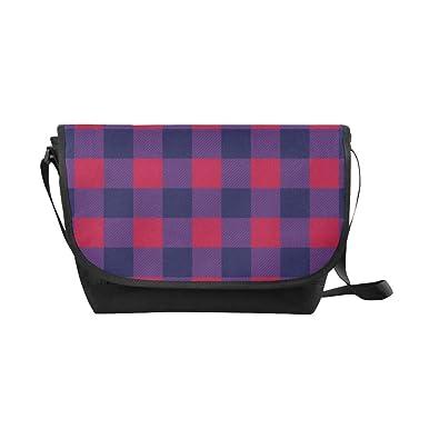 515d81c8e5 Amazon.com  Crossbody Bag Lumberjack Plaid Black Nylon Daypacks Casual  Messenger Shoulder Bag  Shoes