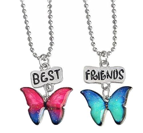 Los Niños Mariposa del Color de la Gota de Aceite BFF Collar ...