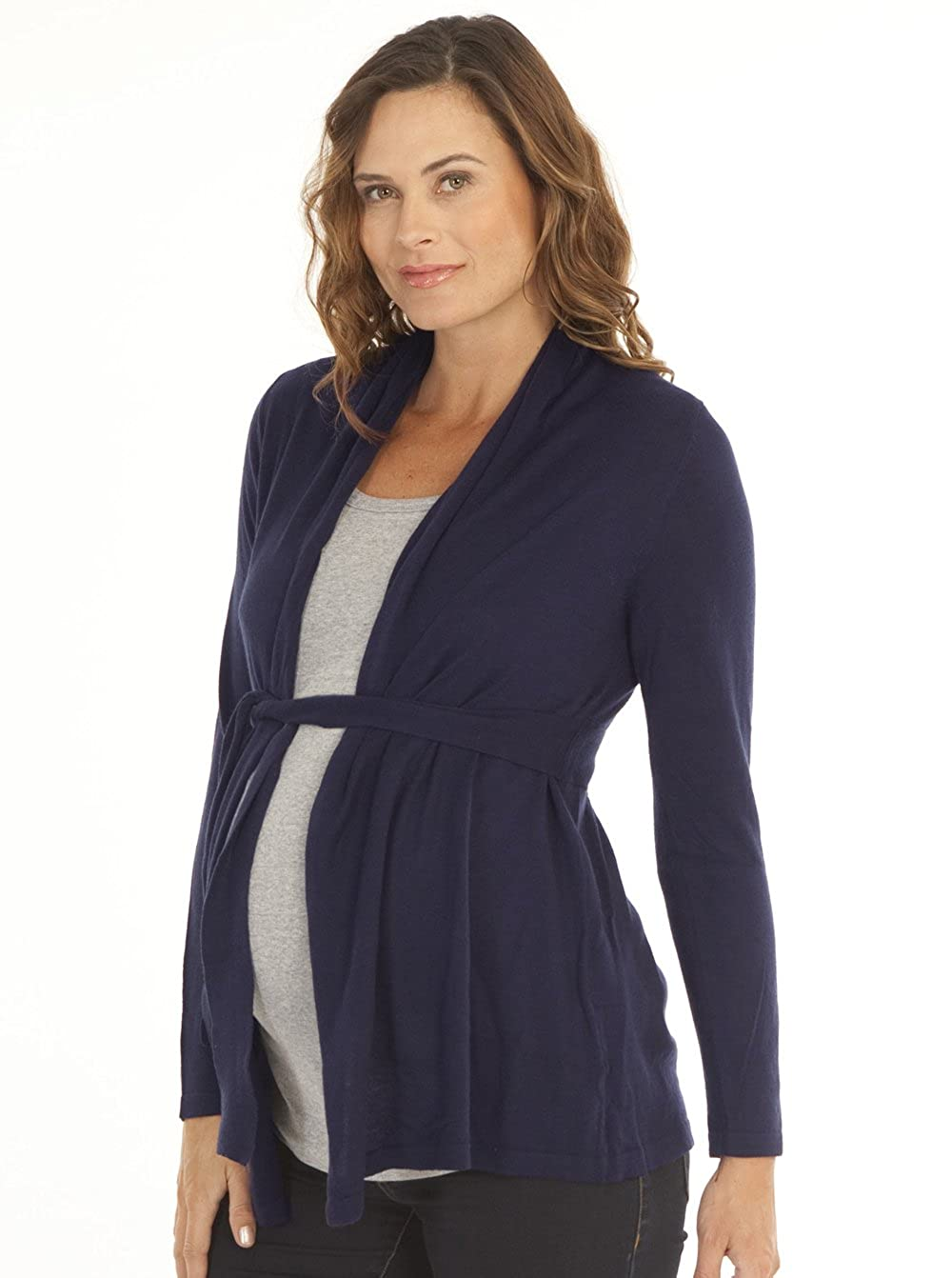 7f8250d92842a Angel Maternity - Roll Collar Cardigan with Waist Tie - The Perfect  Breastfeeding Cover at Amazon Women's Clothing store: