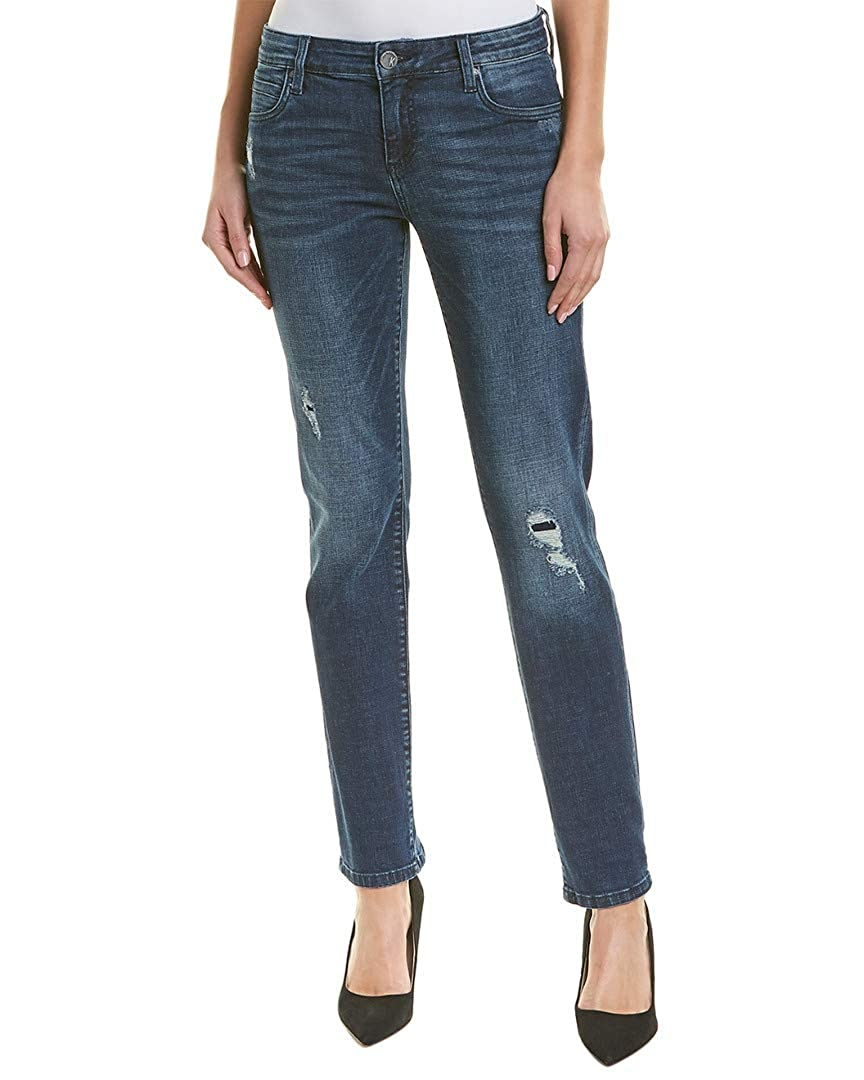 Emphatic Dark Stone Base Wash KUT from the Kloth Womens Catherine Boyfriend Jeans in Emphatic
